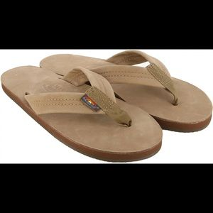 Rainbow Premier Leather Wide Strap Sandals 7.5-8.5